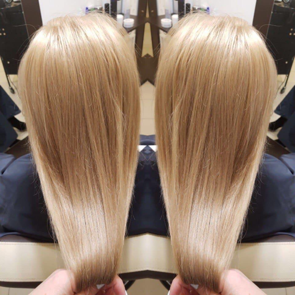 Блондирование и стрижка от студии красоты Лак и Ножницы в СПб